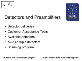 Detectors and Preamplifiers