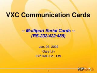 VXC Communication Cards