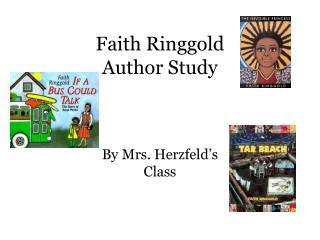 Faith Ringgold Author Study