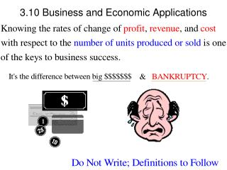 3.10 Business and Economic Applications