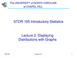 STOR 155 Introductory Statistics