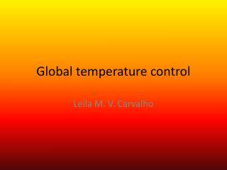 Global temperature control