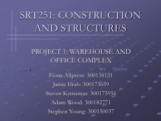 SRT251: CONSTRUCTION AND STRUCTURES