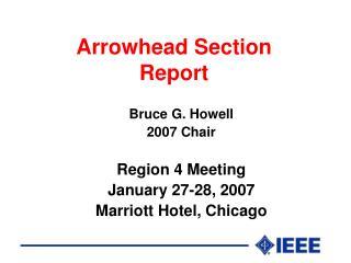 Arrowhead Section Report