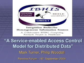"""A Service-enabled Access Control Model for Distributed Data"""