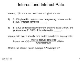 Interest and Interest Rate