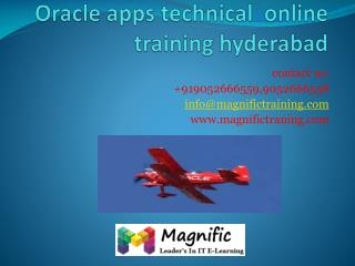 Oracle apps technical online training hyderabad
