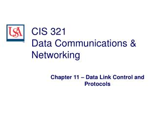 CIS 321 Data Communications & Networking