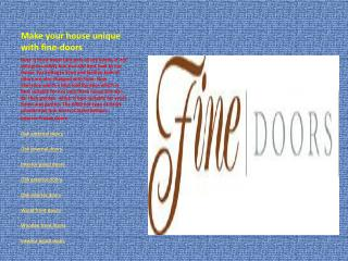 Fine-doors
