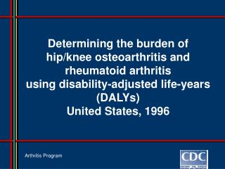 Arthritis Program