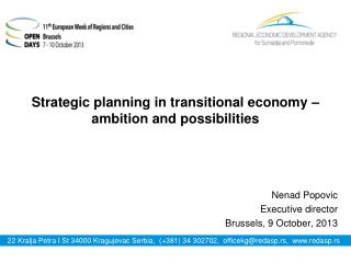 Strategic planning in transitional economy – ambition and possibilities