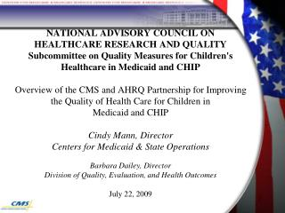CMS (Centers for Medicare & Medicaid Services) and Health Reform