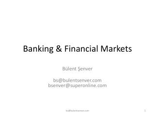 Banking & Financial Markets