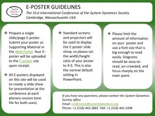 E-POSTER GUIDELINES