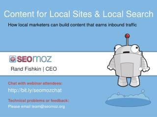 Content for Local Sites & Local Search