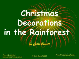 Christmas Decorations in the Rainforest