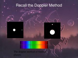 Recall the Doppler Method
