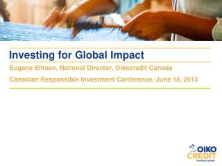Investing for Global Impact