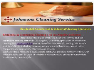 Commercial Cleaning Los Angeles CA