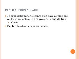 But  d 'apprentissage