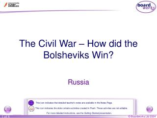 The Civil War – How did the Bolsheviks Win?