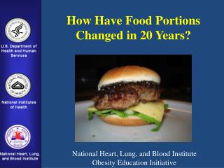 How Have Food Portions  Changed in 20 Years?