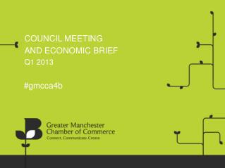 COUNCIL MEETING AND ECONOMIC BRIEF Q1 2013