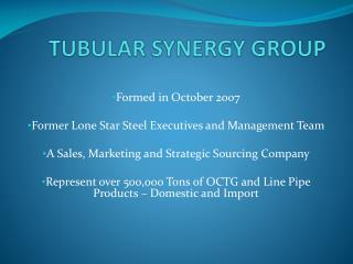 TUBULAR SYNERGY GROUP