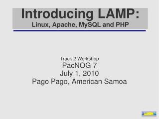 Introducing LAMP: Linux, Apache, MySQL and PHP