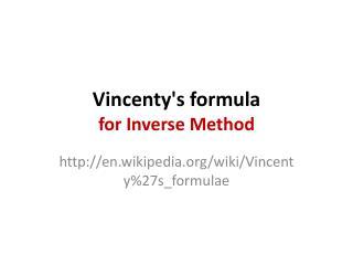 Vincenty's  formula for Inverse Method