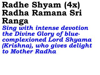 Old 768_New 913 Radhe Shyam (4x) Radha Ramana Sri Ranga