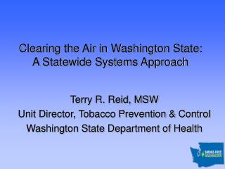 Clearing the Air in Washington State: A Statewide Systems Approach