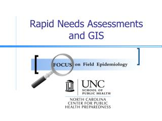 Rapid Needs Assessments  and GIS