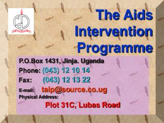 The Aids Intervention Programme