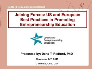 Joining Forces: US and European  Best Practices in Promoting Entrepreneurship Education