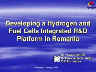 Developing a Hydrogen and Fuel Cells Integrated R&D Platform in Romania