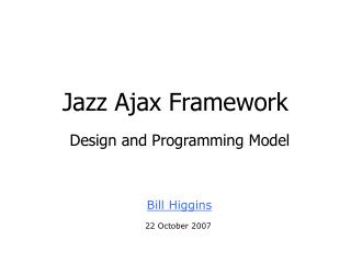 Jazz Ajax Framework