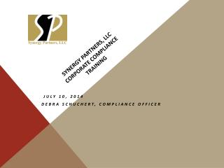 Synergy Partners, LLC Corporate Compliance  Training