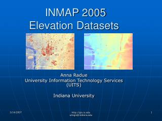 INMAP 2005 Elevation Datasets