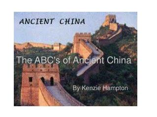 The ABC's of Ancient China