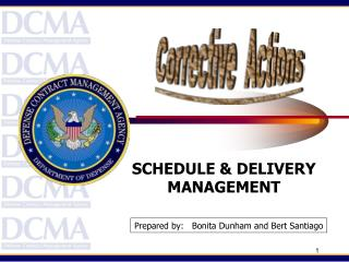 SCHEDULE & DELIVERY MANAGEMENT