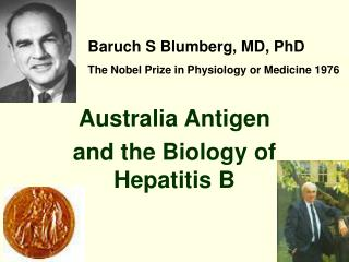 Australia Antigen  and the Biology of Hepatitis B