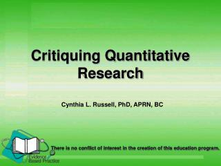 Critiquing Quantitative Research