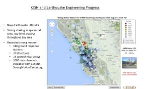 Napa Earthquake - Results Strong shaking in epicentral area, low-level shaking throughout Bay area