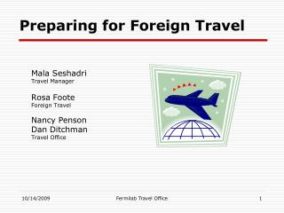 Preparing for Foreign Travel