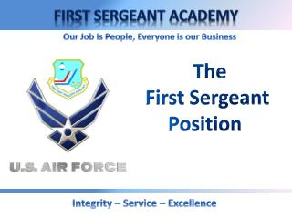 T he  First  Sergeant Position