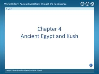 Chapter 4 Ancient Egypt and Kush