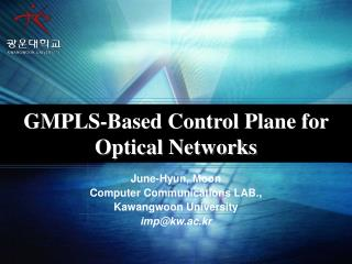 GMPLS-Based Control Plane for Optical Networks