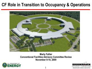 CF Role in Transition to Occupancy & Operations