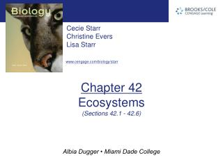 Chapter 42 Ecosystems (Sections 42.1 - 42.6)